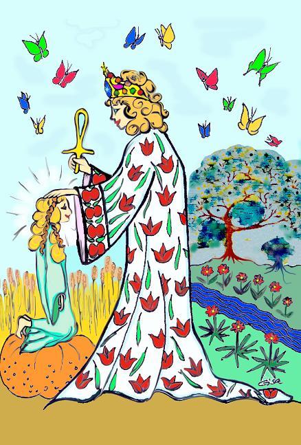 Heilerin, Tarot der Weisen Frauen, Gisa